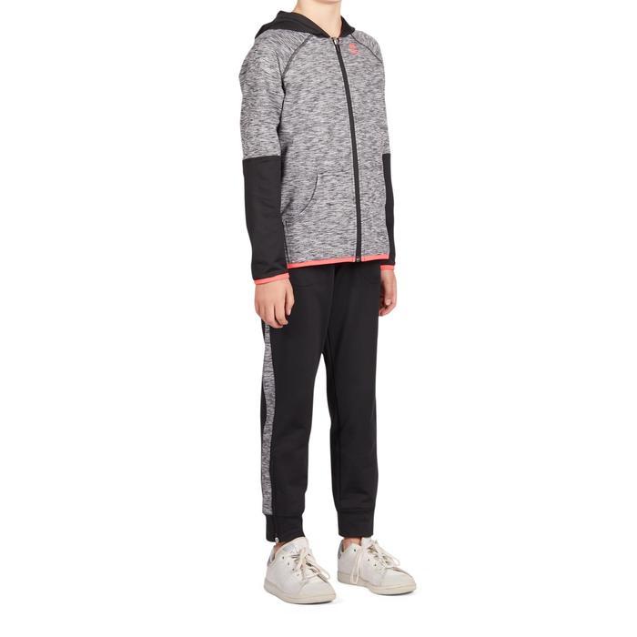 Vest Thermic kinderen 500 zwart roze