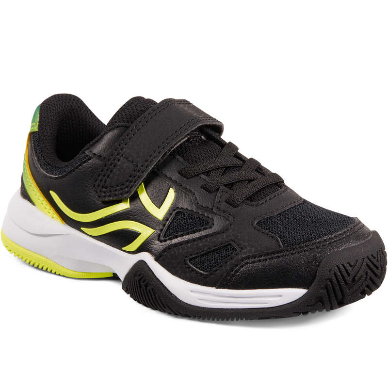 JUNIOR TENNIS SHOE Tennis - TS560 KD - Black/Yellow ARTENGO - Tennis Shoes