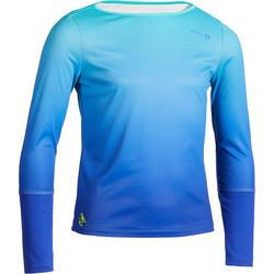 500 青少年運動保暖T-SHIRT-藍色