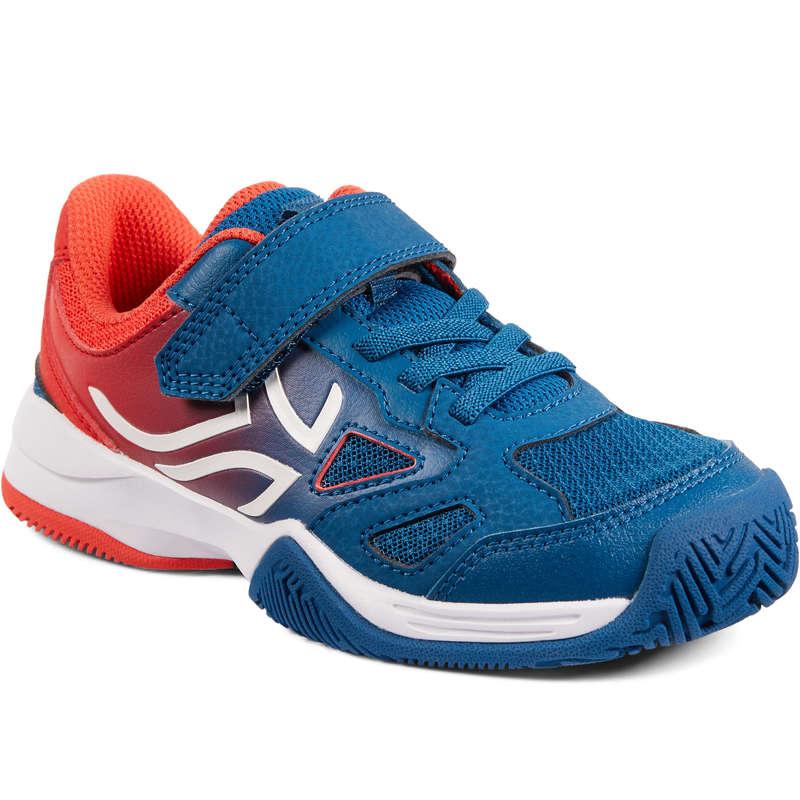 TENNISSKOR JUNIOR Racketsport - TS560 JR BLUE RED  ARTENGO - Tennisskor