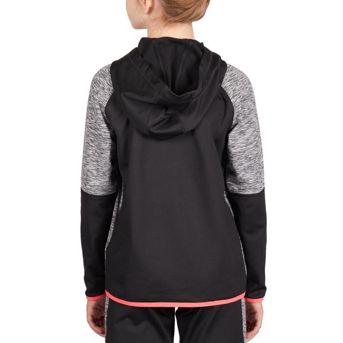 青少年款保暖外套-黑粉配色