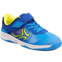 Tennisschuhe TS160 Turnschuhe Kinder blau/gelb
