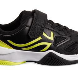 Tennisschuhe TS560 Turnschuhe Kinder schwarz/gelb