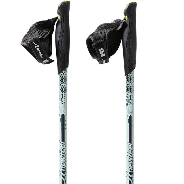 Bâtons marche nordique télescopiques NW P120 noir / vert de gris