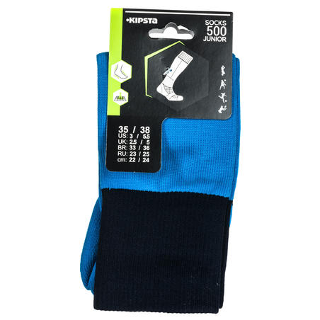 Kids' Knee-Length Rugby Socks R500 - Blue