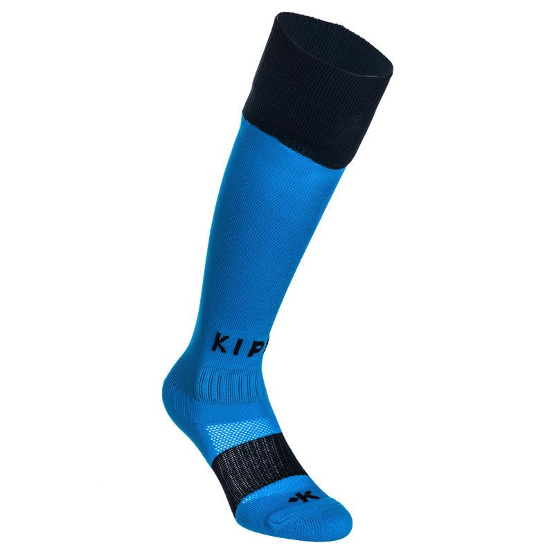 R500 Kids' Knee-Length Rugby Socks - Blue