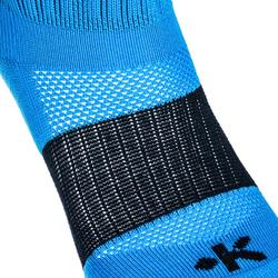 Chaussettes hautes rugby enfant R500 bleu