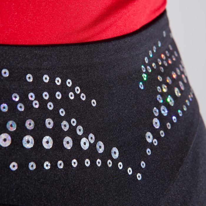 Legging 500 gymnastique artistique féminine noir sequins
