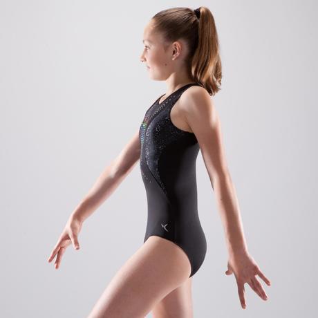 a7a0082e7356 Girls  Artistic Gymnastics Leotard - Black Sequins