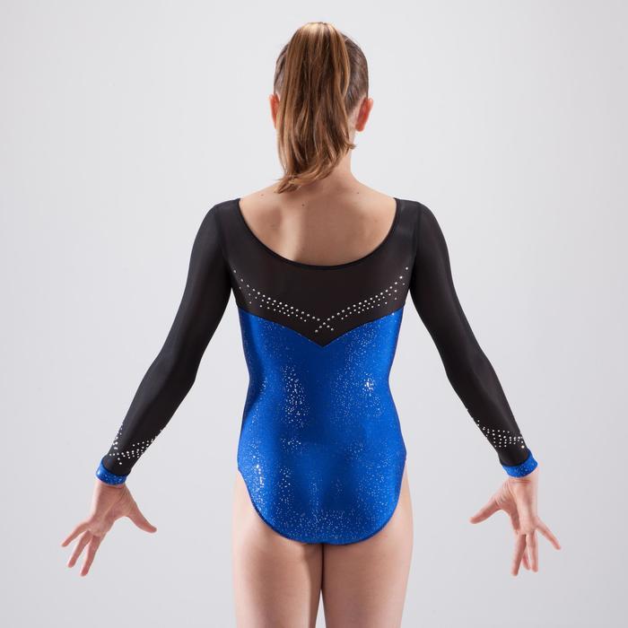 Justaucorps manches longues de gymnastique artistique féminine strass - 1498877