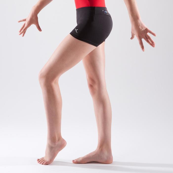 Gymnastikhose kurz Pailletten schwarz