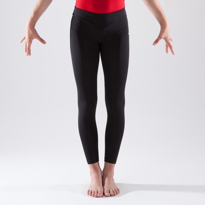 Leggings de gimnasia artística femenina negro lentejuelas