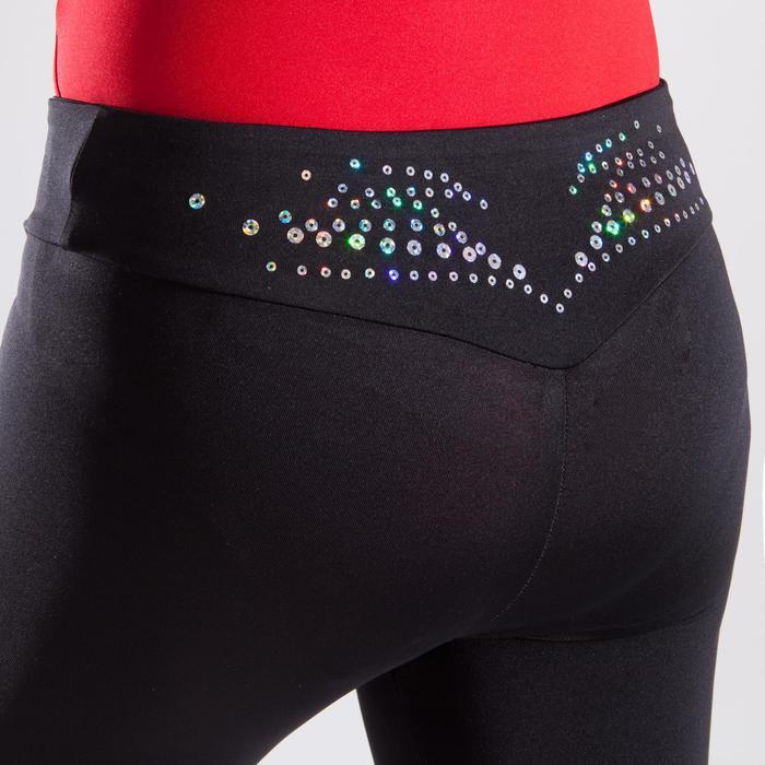 Legging de gymnastique artistique féminine noir sequins - 1498943