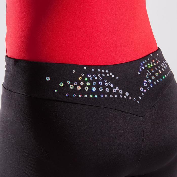 Short de gimnasia artística femenina negro lentejuelas