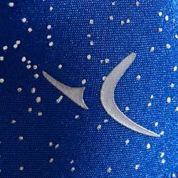 Turnpakje met lange mouwen blauw met strass