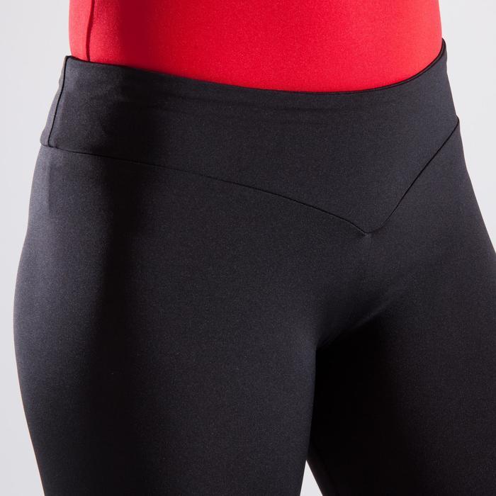 Legging de gymnastique artistique féminine noir sequins - 1498965