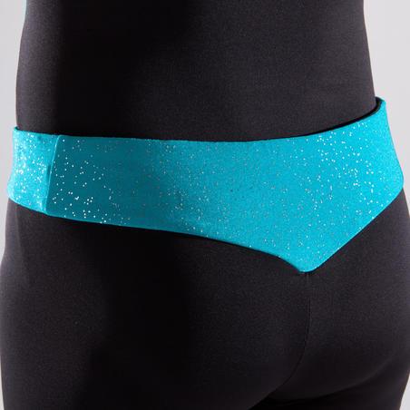 Celana Pendek Senam Artistik Anak Perempuan - Karet Pinggang Gemerlap Turquoise