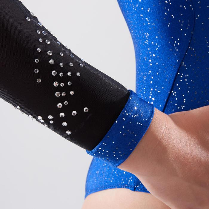 Justaucorps manches longues de gymnastique artistique féminine strass - 1498981