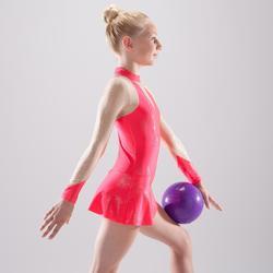 Gymnastikanzug Turnanzug RSG langarm mit Röckchen Pailletten koralle