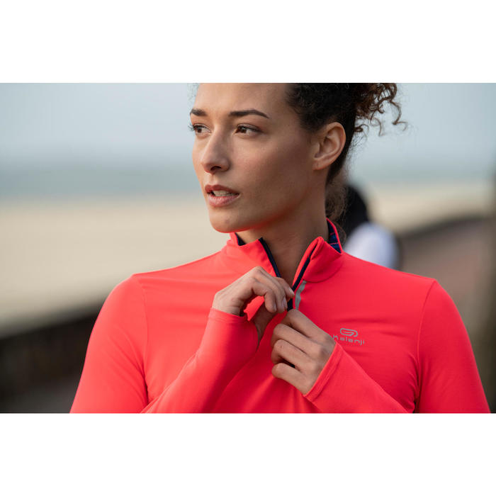 MAILLOT MANCHES LONGUES JOGGING FEMME RUN DRY+ ZIP - 1499108