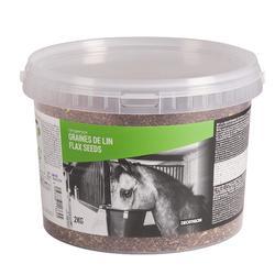 Voedingssupplementpaarden en pony's emmer Fougalin lijnzaad - 2 kg