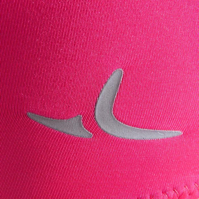 Mouwloos turnpakje voor toestelturnen dames roze met lovertjes