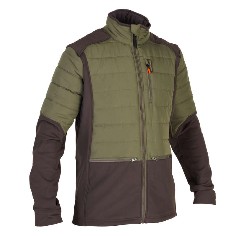 FLEECES/PADDED JACKETS Shooting and Hunting - SG500 HYBRID JACKET GREEN SOLOGNAC - Hunting and Shooting Clothing