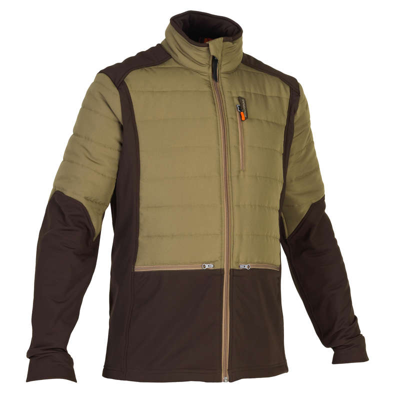 FLEECES/PADDED JACKETS Shooting and Hunting - Hybrid Jacket SG500 - Brown SOLOGNAC - Hunting and Shooting Clothing