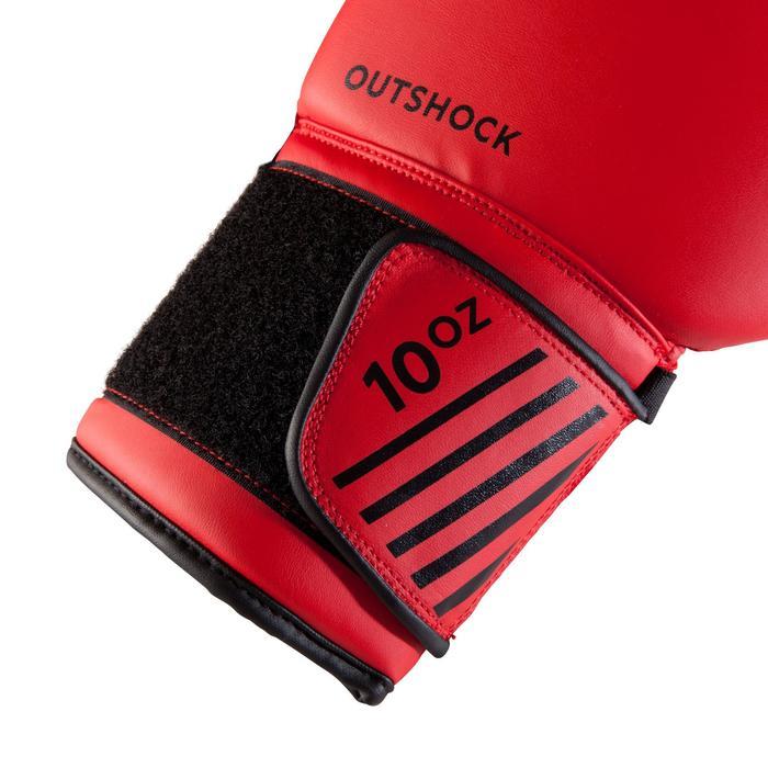 outshock gants de boxe 100 rouges boxeur d butant homme. Black Bedroom Furniture Sets. Home Design Ideas