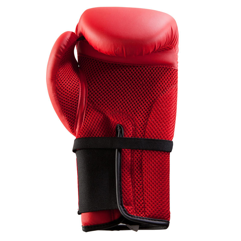 นวมชกมวยสำหรับนักชกมือใหม่รุ่น 100 (สีแดง)