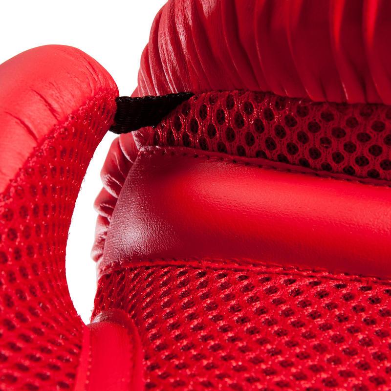 GUANTES DE BOXEO 100 ROJO, boxeadores nivel iniciación hombre o mujer