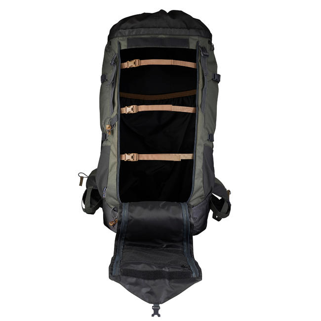 Men's mountain trekking rucksack _PIPE_ TREK 900 90+10L - Khaki