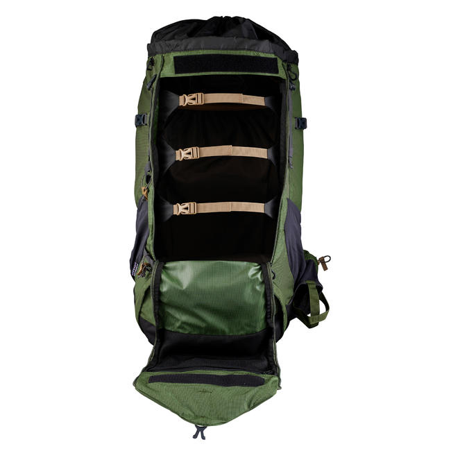 Men's mountain trekking rucksack _PIPE_ TREK 500 70+10L - olive