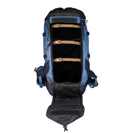 Mochila para montaña TREK 900 50+10 mujer azul