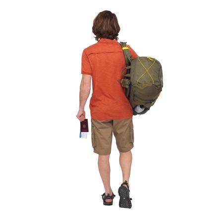 Travel 100 Men's Trekking Short-Sleeved Polo Shirt - Red