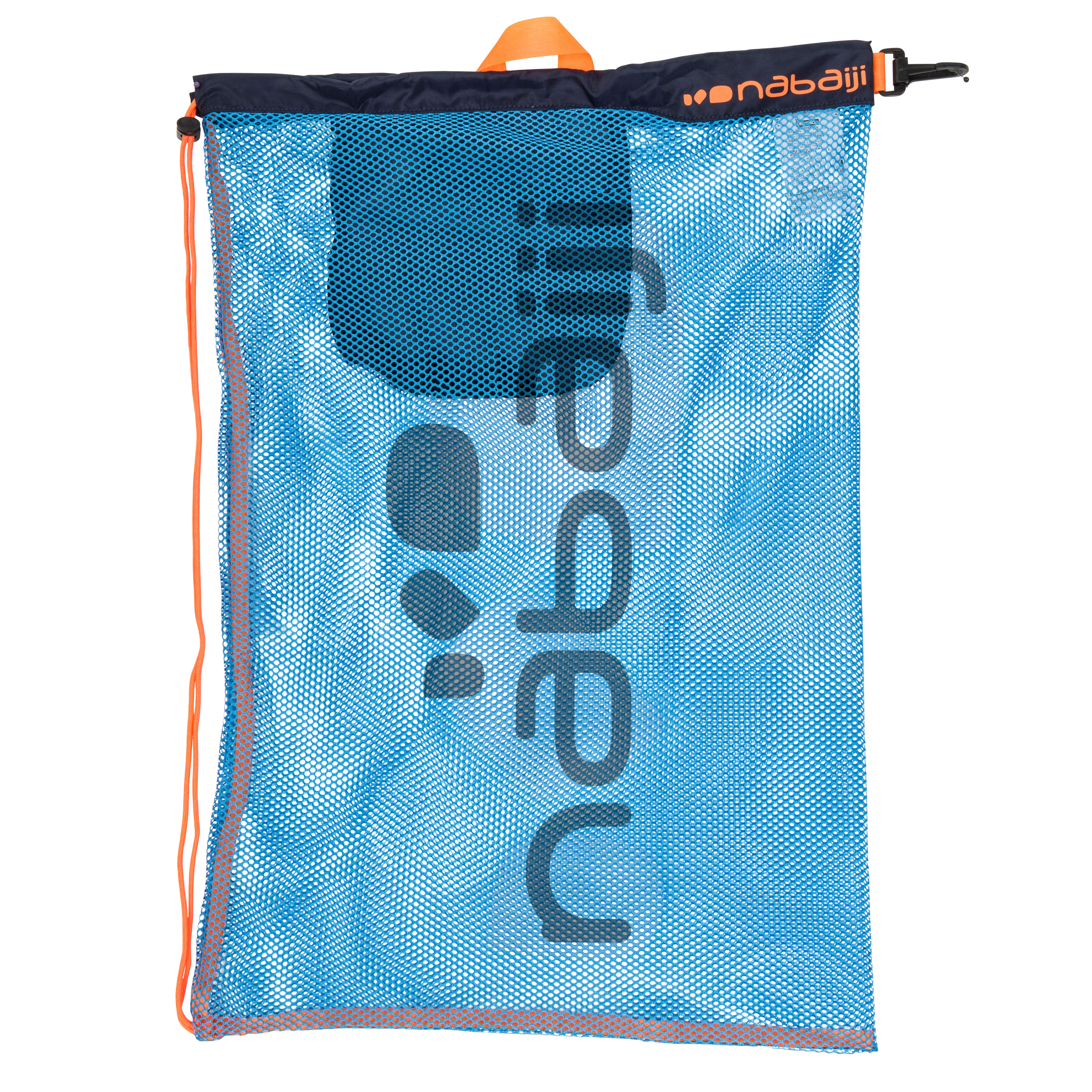 Nabaiji Large Mesh Pool Bag - Blue Orange