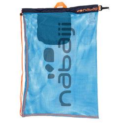 Grote zwemtas in netstof Nabaiji blauw/oranje