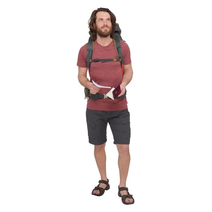 T-Shirt manches courtes randonnée Techwool 155 homme - 1499389