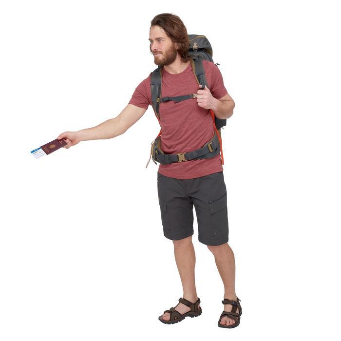 Camiseta de manga corta trekking TRAVEL500 WOOL hombre rojo