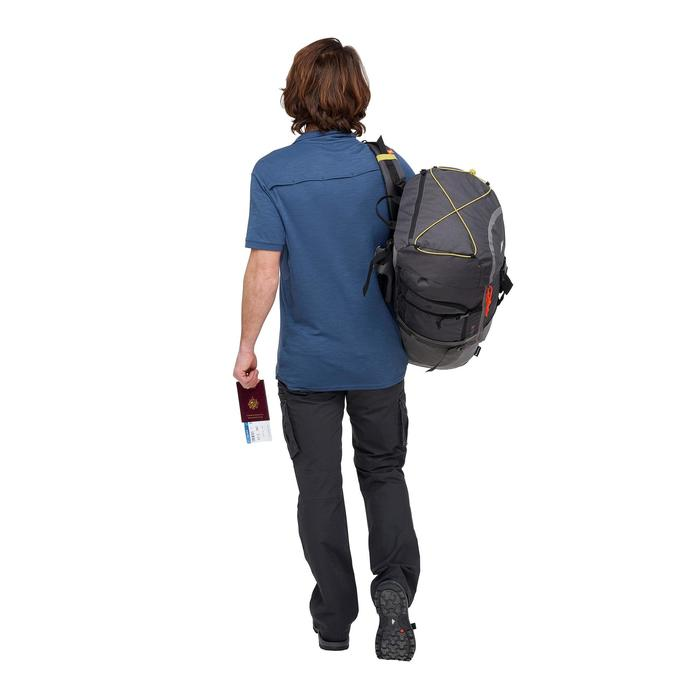 男款短袖Polo衫TRAVEL 100 - 藍色