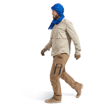 Guantes anti-UV de trekking en el desierto DESERT 500 CAFÉ