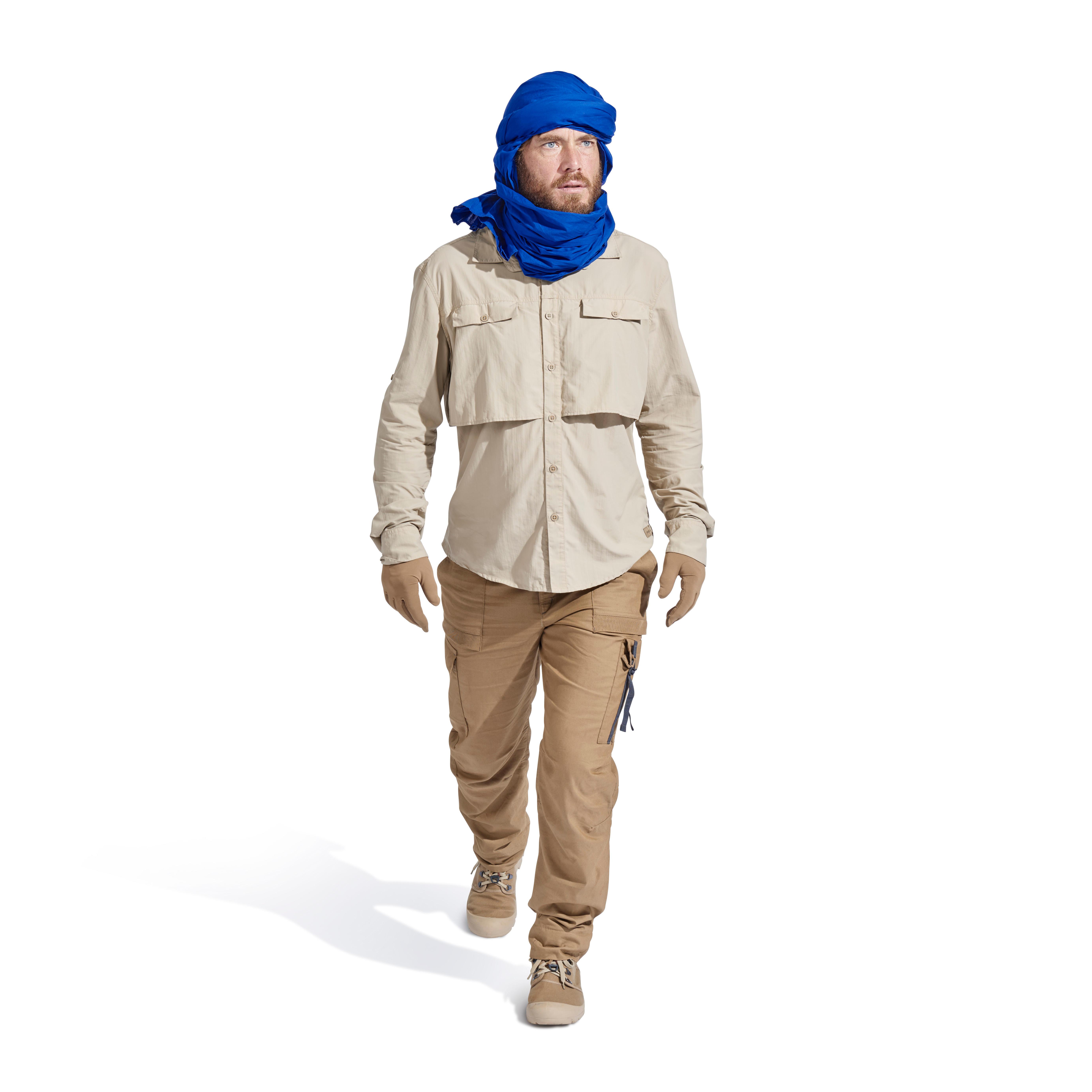 Desert 500 Men's Long-sleeved Desert Trekking Shirt - Beige