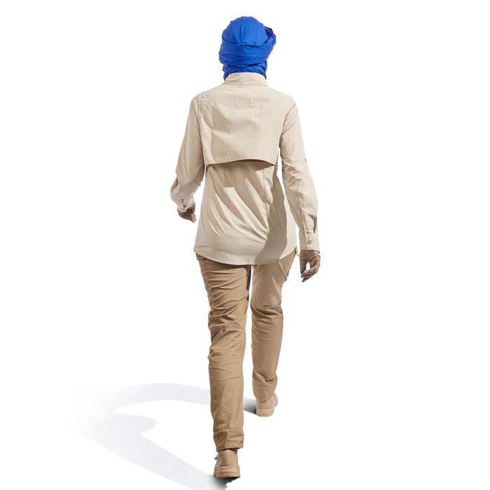 Pantalon de Trekking désert DESERT 500 femme marron