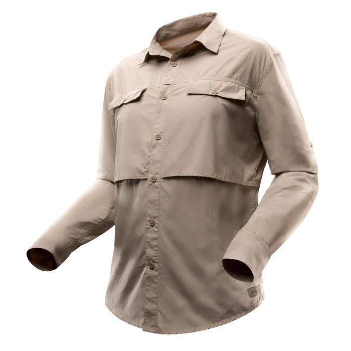 Chemise manches longues de Trekking désert DESERT 500 homme beige - 1499450