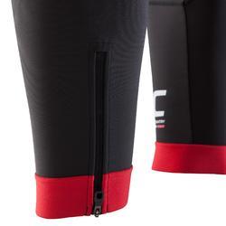 Lange fietsbroek MTB XC zwart/rood