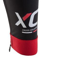 MTB-Hose lang mit Trägern XC schwarz/rot
