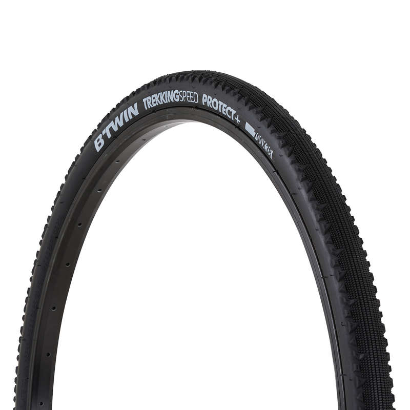 TYRES Cycling - Trekking Speed Protect+ Gravel Bike Tyre - 700x38 B'TWIN - Cycling