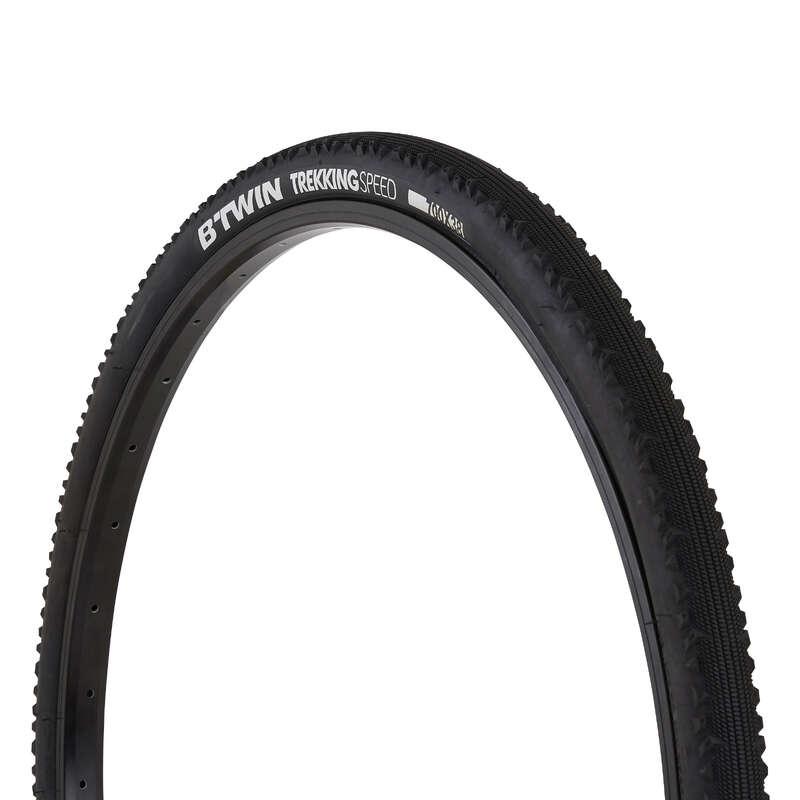 Покрышки для гибридных велосипедов Велоспорт - ПОКРЫШКА TREKKING SPEED 700x38 BTWIN - Запчасти и компоненты