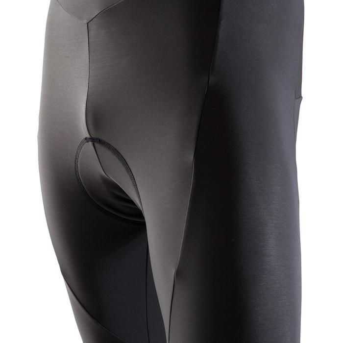 MTB-broek met bretels heren ST 500 zwart en blauw