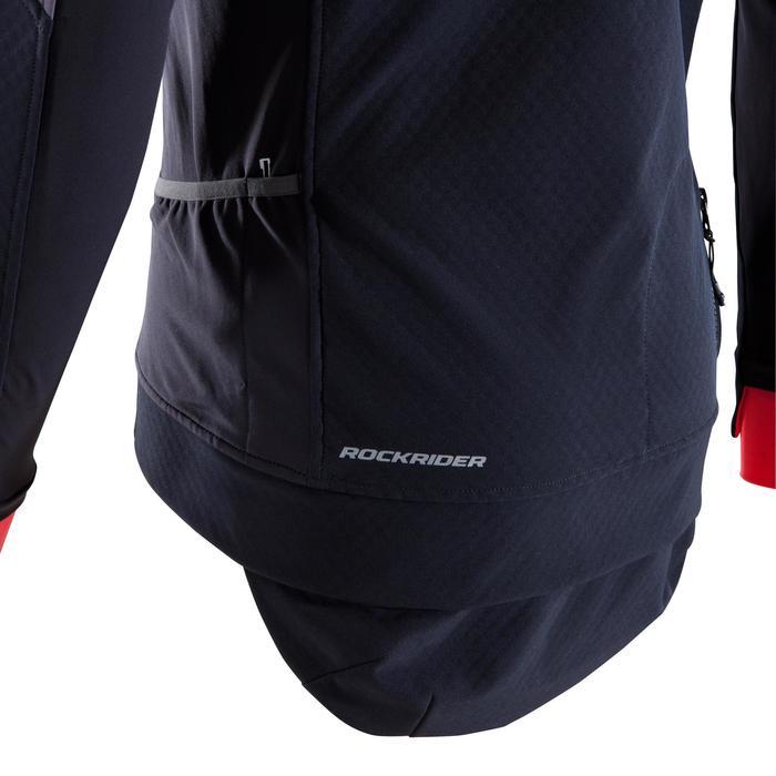 MTB-Fahrradjacke ST 500 Herren schwarz/neonrot